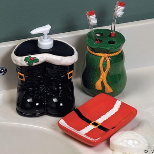 Accesorios para decorar el cuarto de ba o en navidad for Jaboneras para bano