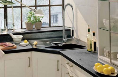 Aprovechar espacio en la cocina fregaderos en esquina - Modelos de fregaderos ...