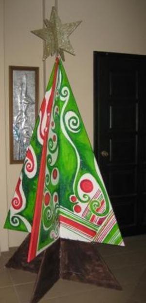 arboles-de-navidad-alternativas-arbol-pintado