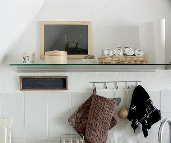 Decoraci n cocinas peque as utensilios colgados en la pared for Utensilios decoracion cocina