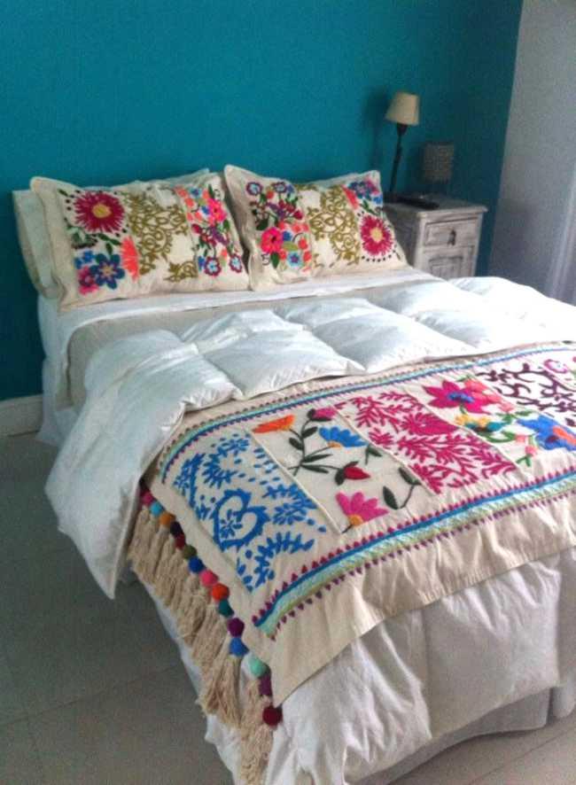 Cuatro claves para decorar un dormitorio nico - Colchas de patchwork hechas a mano ...