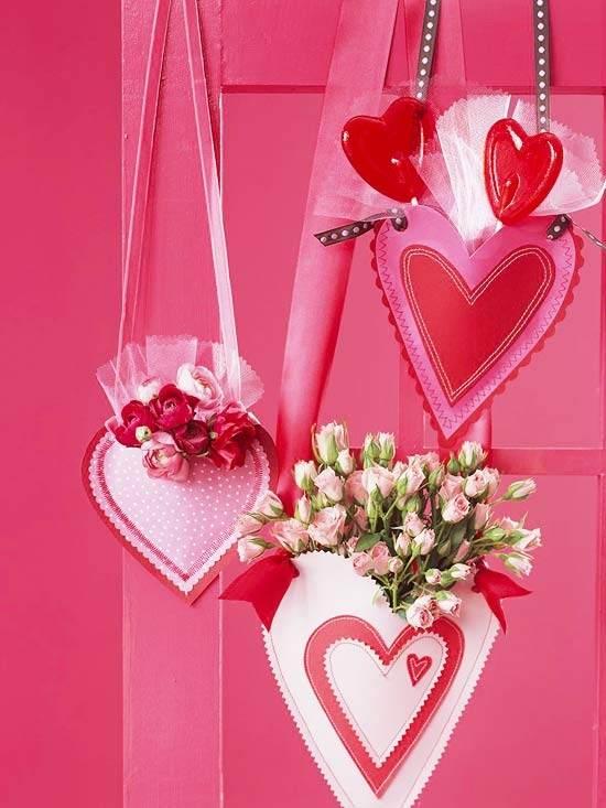 corazones y flores para san valentín