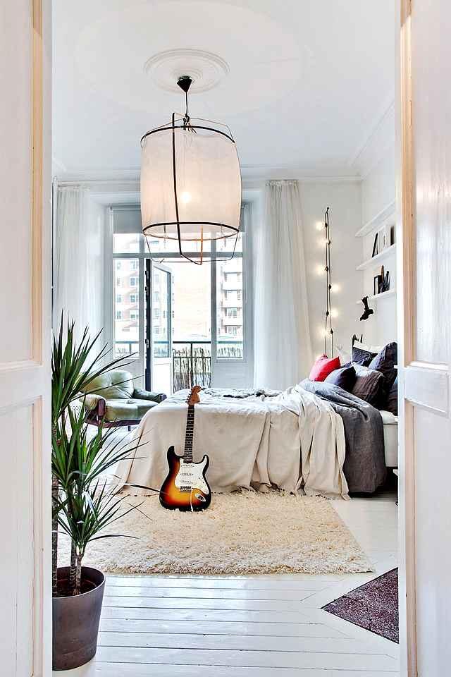 iluminación de estilo en un dormitorio actual