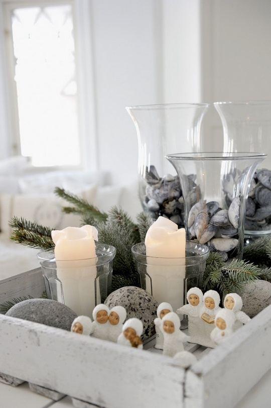 mesa navideña simple