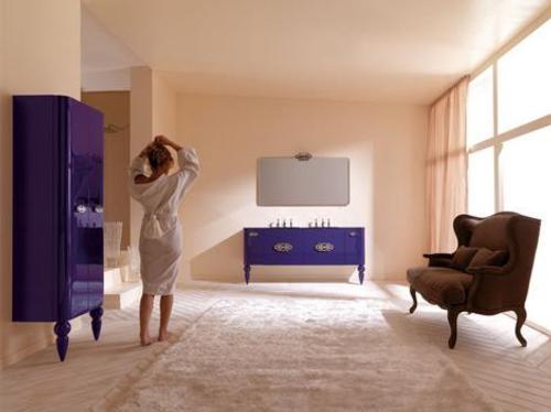 Muebles retro moderno para el cuarto de ba o for Muebles de cuarto de bano antiguos