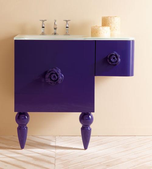 Muebles retro moderno para el cuarto de ba o - Muebles de cuarto de banos ...