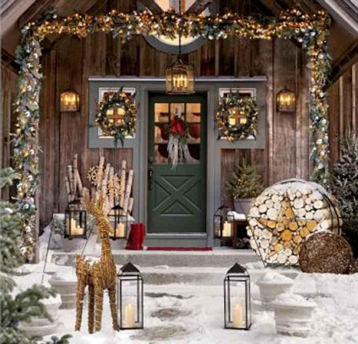 Navidad 12 ideas para decorar la casa continuaci n 2 - Decoracion navidena para jardines ...