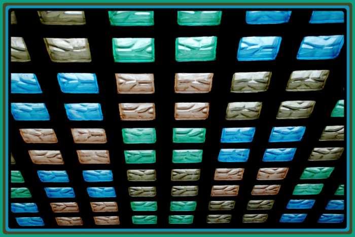 bloques de cristal de colores